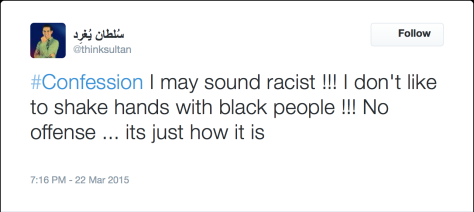ThinkSultan racist tweet - 1