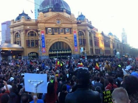 Australia melbourne protest 1