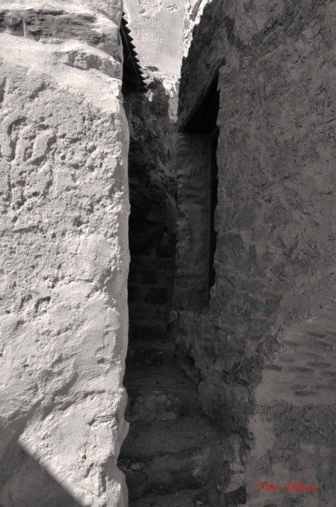between two walls