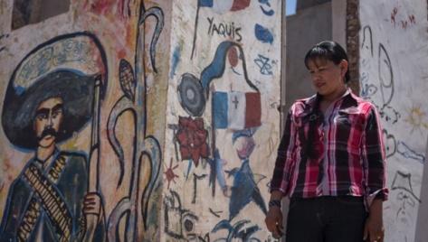 Reina Lourdes, Yaqui activist, affirms the defence of water is the defence of the Yaqui's existence | Photo: Clayton Conn / teleSUR