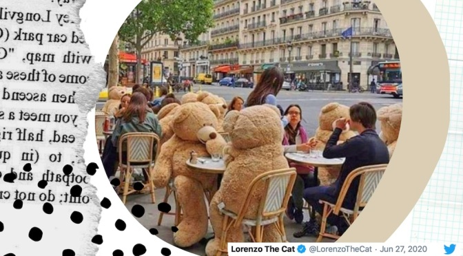 Giant Teddy Bears Enforce Social Distancing On Parisian Streets