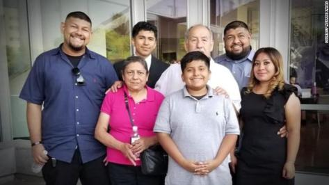 Ricardo Aguirre and his family in happier times.
