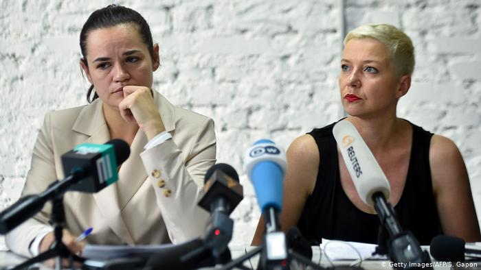 Svetlana Tichanowskaja und Maria Kolesnikowa