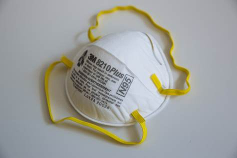 """N95 masks should have the """"NIOSH"""" logo or acronym in block letters printed on the outside."""