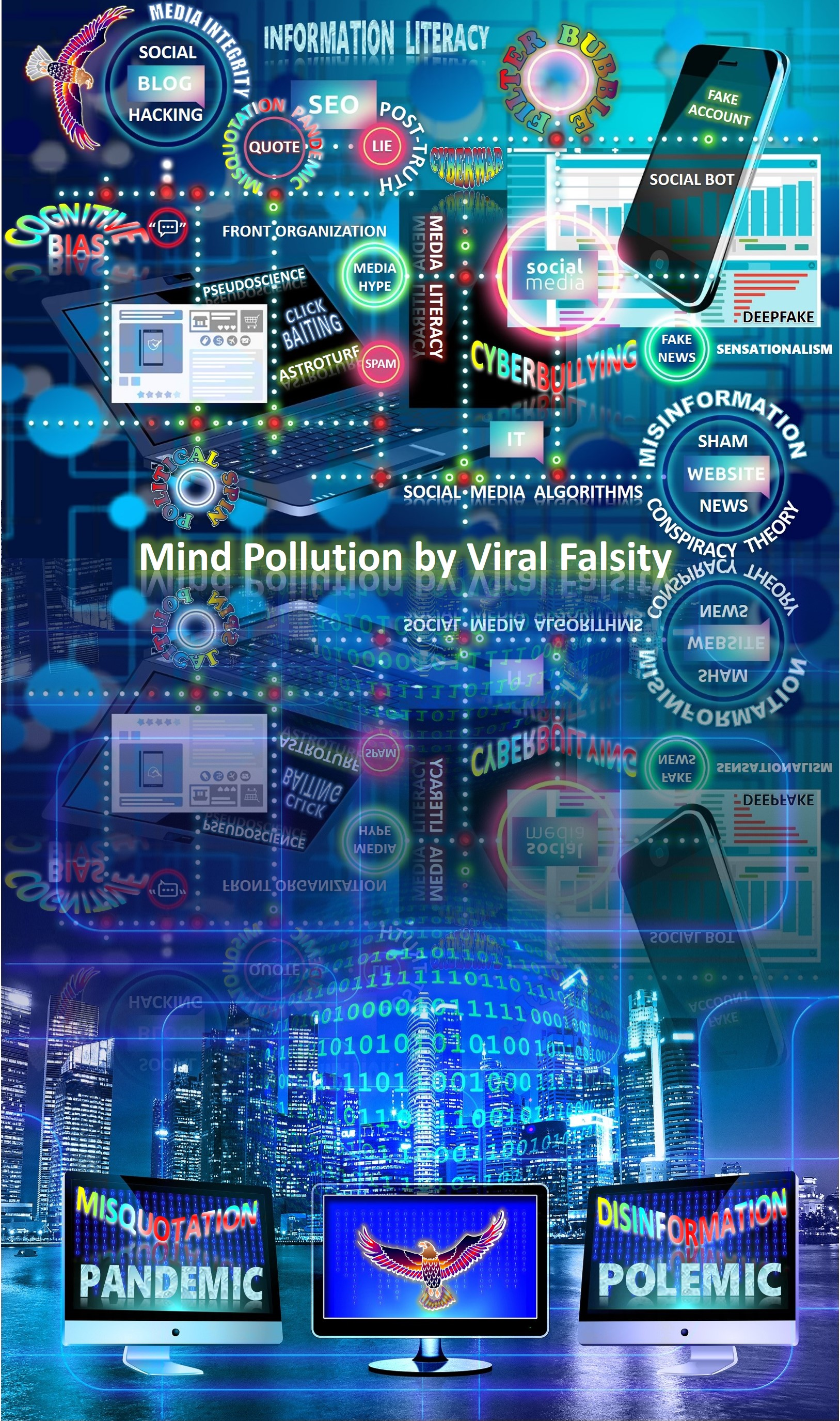 Misquotation Pandemic and Disinformation Polemic: Mind Pollution by Viral Falsity