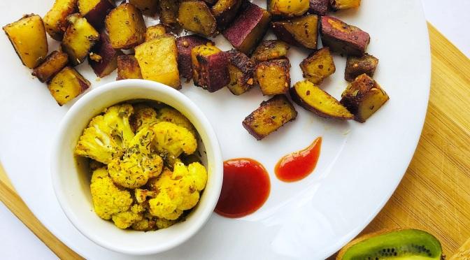 Simple Sweet-Potato Cauliflower Stir fry