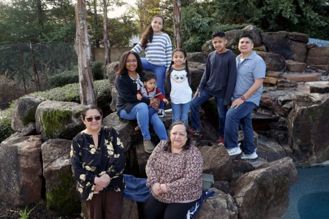 Extended Ramiez family at their home in Fresno.