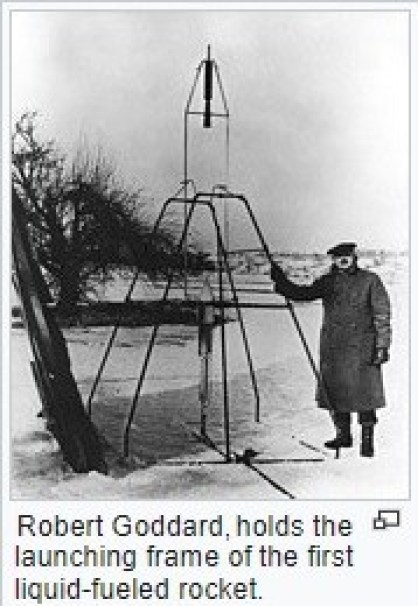 1926 – Launching of the first liquid-fueled rocket