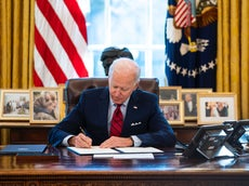 How many executive orders has Joe Biden signed?