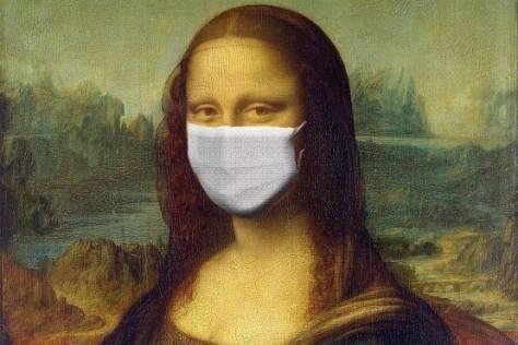 photographie joconde Mona Lisa humour masque art tableau drôle
