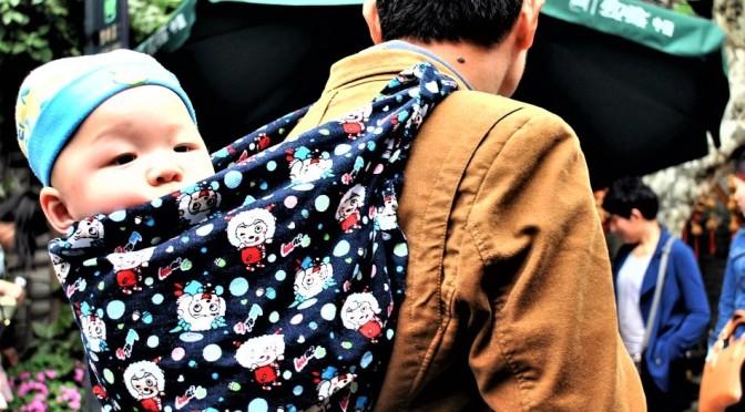 Väter und Kinder in Asien