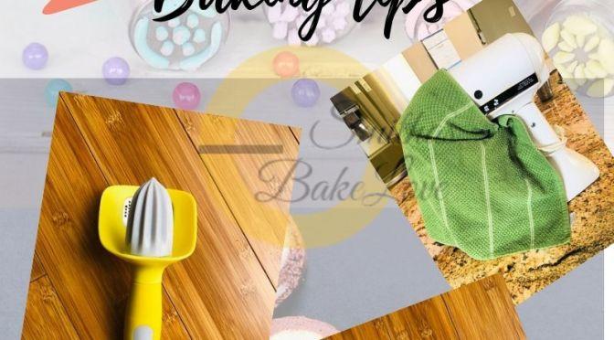 My Top 5 baking tips