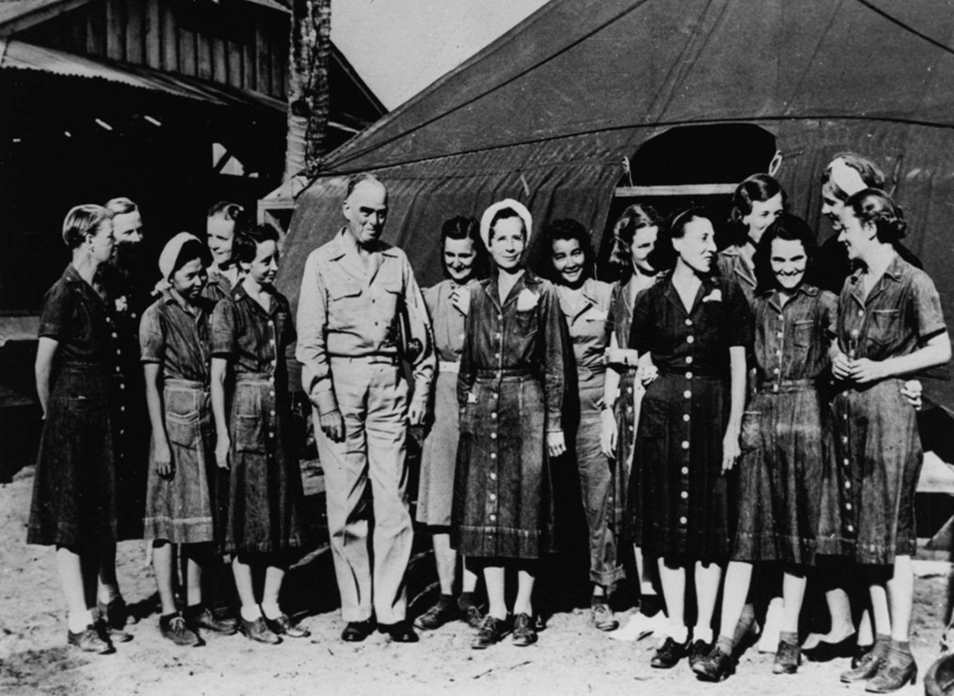 Liberated Navy nurses