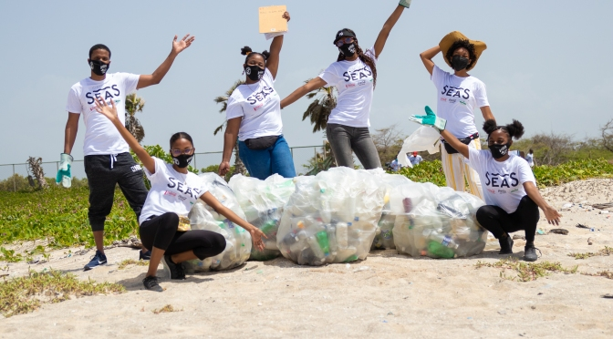 JET and Coca-Cola remove over 1,000 pounds of garbage from Jamaican coastlines through Circular Seas cleanups