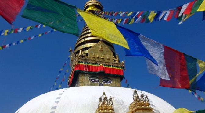 Nepal: Swayambunath, eine der ältesten buddhistischen Tempelanlagen der Welt