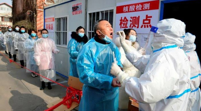 China registers new COVID-19 cases after one year.