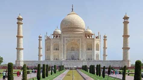 wallpaper et fond d'écran Taj Mahal Inde India monument paysage pays ville city nature beau beautiful voyage travel tourist tourisme photo photographie photography