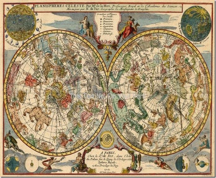 Antique Planisphere Celeste Zodiac Map