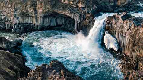 wallpaper et fond d'écran nature et cascade Islande Waterfall Iceland eau paysage landscape pays beau beautiful voyage travel tourisme tourist photo photographie