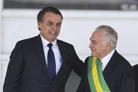 Bolsonaro Temer e pede arrego!