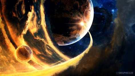wallpaper et fond d'écran lumière light univers universe espace space couleurs colors planète planet astronomie ciel paysage photo photographie photography