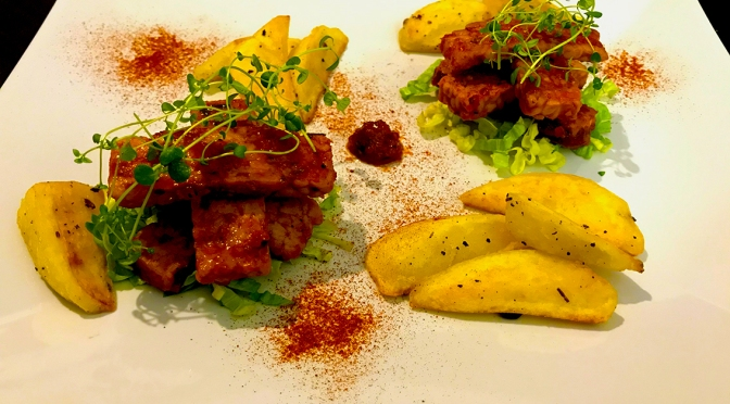 Tempeh in agrodolce con patate